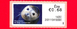 Nuovo - MNH - IRLANDA - EIRE - 2013 - Animali E Vita Marina  - Foca - Seal (Phoca Vitulina) - 0.68 - 268 - Affrancature Meccaniche/Frama