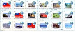 Samoa 2014, SIDS, Fishes, Turtles, Seahorses, Reef, Ships, Flag, 18val, - Samoa