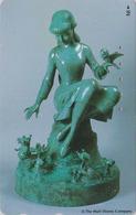 Télécarte Japon / 110-175297 - DISNEY - BLANCHE NEIGE Statue & Rat Mouse - Japan Phonecard - Disney