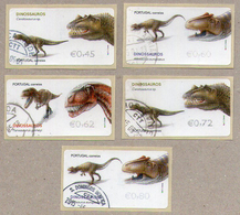 ATM Portugal Stamps - Dinosaurs Used Set - Stamps