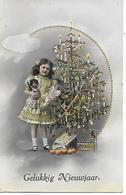 Girl, Fille, Mädchen, Tannenbaum, Christmas Tree, Arbre De Noël, Doll, Poupée, Puppe, Golden Details - Noël