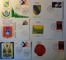 Morteau (25). Vöhrenbach (D). Lot De 6 Souvenirs Du Jumelage Morteau-Vorhenbach. Envoi France 1,56 €. Europe 2,40 €. - Timbres