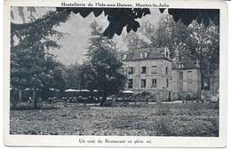 MANTES LA JOLIE (78200) Hostellerie De L' Isle Aux Dames - Un Coin Du Restaurant En Plein Air - Mantes La Jolie
