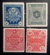 1914 Turquie > 1858-1921 Empire Ottoman Mi:TR P43 , 44, 45 , 46 1914 Postage Dues London Print . Neufs Charnières TBE - Neufs