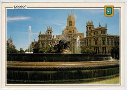 MADRID    FUENTE  DE  LA  CIBELES             (VIAGGIATA) - Madrid