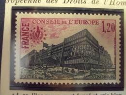"1978-SERVICE Timbre N°   58      ""CONSEIL De L EUROPE  1.20f        ""     Cote   0.65           Net     0.20 - Service"