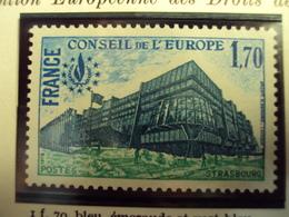 "1978-SERVICE Timbre N°  59       ""CONSEIL De L EUROPE   1.70f       ""     Cote     1         Net     0.30 - Service"