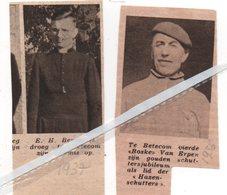 BETEKOM..1936..1937.. E.H. BERNAERTS ZIJN EREMIS / BOSKE VAN ERPEN GOUDEN SCHUTTERSJUBILEUM BIJ DE HAZENSCHUTTERS - Vieux Papiers