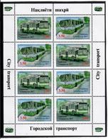 Tajikistan.2017 City Transport. Sheetlet Of 8 (4 Pairs) Michel # 775-76A  KB - Tadjikistan