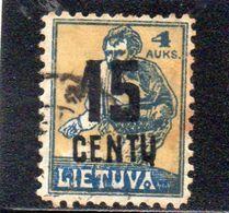 LITUANIE 1922 O - Lituanie