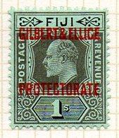 OCEANIE - GILBERT & ELLICE - (Protectorat Britannique) - 1911 - N° 7 - 1 S. Noir Sur Vert - (Timbre De FIDJI) - Timbres