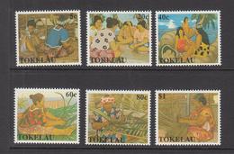 1990 Tokelau  Women's Work & Handicrafts Weaving  Complete Set Of 6  MNH - Tokelau