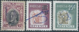RODESIA -Northern RHODESIA 1931 6d USED-1945 REVENUE STAMPS - Southern Rhodesia (...-1964)