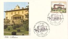 ITALIA FDC ROMA VILLE VILLA MEDICEA POGGIO A CAIANO FI 1986 . - FDC