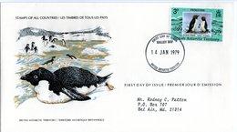 BRITISH ANTARCTIC TERRITORY   FDC 1979  Penguin  /   La COLOMBIE - BRITANNIQUE  Pingouin - Penguins