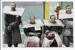 Prisoners Wearing Wooden Collar - Lau Ping Kee - China (Hong Kong)