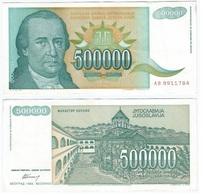 Yugoslavia 500.000.000 Dinara 1993 Pick 134 Ref 1492 - Yugoslavia