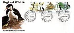 AUSTRALIAN  ANTARCTIC TERRITORY   FDC 1983    /   La COLOMBIE - AUSTRALIAN - Penguins