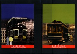 Hong Kong 2004 100 Years Of Hong Kong Trams Postal Stationery Postcards - Covers & Documents