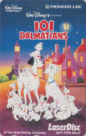 RARE Télécarte Japon / 110-011 - DISNEY - 101 DALMATIANS ** Home Video Laser Disc ** - Cinema Movie Japan Phonecard - Disney
