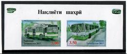 Tajikistan.2017 City Transport. Imperf.Pair Of 2v: 3.00, 3.50 Michel # 775-76B - Tadjikistan
