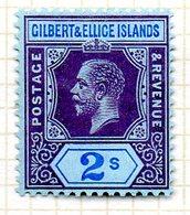 OCEANIE - GILBERT & ELLICE - (Protectorat Britannique) - 1912 - N° 21 - 2 S. Violet Et Bleu S. Azuré - (Timbre De FIDJI) - Timbres