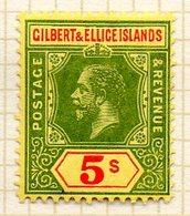 OCEANIE - GILBERT & ELLICE - (Protectorat Britannique) - 1912 - N° 23 - 5 S. Vert Et Rouge S. Jaune - (Timbre De FIDJI) - Timbres