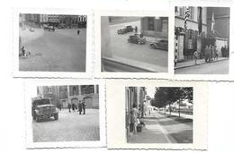 Ath Libération Septembre 1944 Lot De 5 Photos 7x6 Guerre 40-45 - Guerre, Militaire