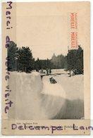 - Font-Romeu - Course De Bobsleighs, Au Gagne Petit, épaisse, Pub Saucisson Mireille, écrite, 1928, TTBE, Scans. - Autres Communes