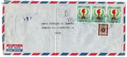LIBYA - REGISTERE AIR MAIL COVER TO ITALY 1983 / WAHDA BANK S.A.L. - Libia