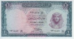 EGYPT 1 EGP 1967 P-37 Sig/ NAZMI EF/XF HIGH CRISP */* - Egypte