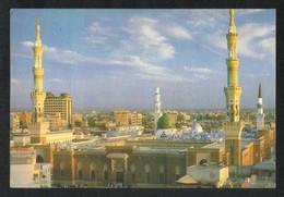 Saudi Arabia Picture Postcard Aerial View Holy Mosque Medina Madina Islamic View Card - Saudi Arabia
