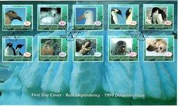 FDC  ROSS  DEPENDANCY  Seabirds, Seals  /  Oiseaux De Mer, Phoques  1994 - Albatrosse & Sturmvögel