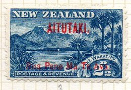 OCEANIE - AITUTAKI - (Dépendance Néo-Zélandaise) - 1902-12 - N° 3 - Rua Pene Ma Te Ava S. 2 1/2 P. - (Nelle Zélande) - Aitutaki