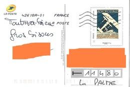 Montimbramoi PAP Monde 20 Gr Aéropostale Sur Carte Postale Même Motif Service Postal Aérien Toshiba - Vliegtuigen