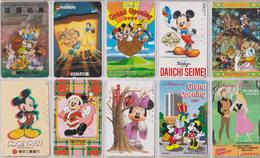 JOLI LOT De 50 Télécartes Privées Japon - DISNEY ** Avec 2 DISNEY STORE ** - Japan Private Phonecards - 119 - Disney