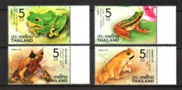 Thailand Frogs 2014 Set Of 4 MNH New FdS Tailandia - Tailandia