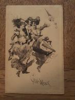 Illustrateur M. Sieben - Cake Walsk - Femme, Homme - Parapluie - French Cancan? - Illustrateurs & Photographes