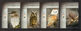Thailand Owls 2013 Set Of 4 MNH New FdS Tailandia - Tailandia