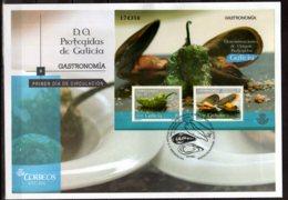 2015 Spain - Gastronomy - DOP Of Galicia, Sheelfish / Mussels -FDC  MS - MI B 271 (oa) - Ernährung