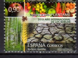 2015 Spain - International Year Of Soils - Fruits And Vegitables Odd Stamps With Seeds MNH** MI 4986 (oa) - Fehldrucke