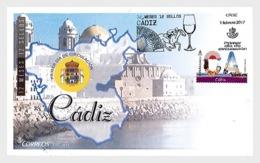 2017 Spain - Provinces - Cadiz FDC - Wine, Hand Fan, Horses , Cathedrals  (zz) - 1931-Today: 2nd Rep - ... Juan Carlos I
