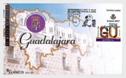2017 Spain - Provinces -Guadalajara  FDC - Olive Oil, Valtures Griff, Coat Of Arms   (zz) - 1931-Heute: 2. Rep. - ... Juan Carlos I