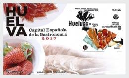 2017 Spain -Huelva - Capital Of Spanish Gastronomy - Food, Jamon, Strawberry, Wine - FDC - Ernährung