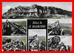3 CPSM/gf SAINT-MARIN.  Saluti Da S.Marino / Panorama / Piazza Della Liberta...I0110 - Saint-Marin