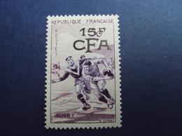 "1954-CFA- Timbre N°  329   ""    Rugby    ""   Neuf,  Charniere  Cote  5.10        Net      1.7 - Ongebruikt"