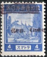 Rep.Indonesia Overprint (Sumatra) On 4ct Japanese Issue For Sumatra - Indes Néerlandaises
