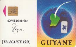 FRENCH GUYANE - Satellite, Arianespace, Sophie De Keyser(120 Units), 12/89, Used - Telefoonkaarten