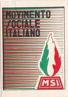 POLITICA / TESSERA PARTITO _ MOVIMENTO SOCIALE  ITALIANO 1951 - Sez. Montemaggiore Belsito (PA) - Vecchi Documenti