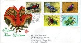 PAPUA NEW GUINEA   FDC, Birds  /  PAPOUASIE-NOUVELLE-GUNINÉE, Lettre De Première Jour, Oiseaux, 1977 - Birds